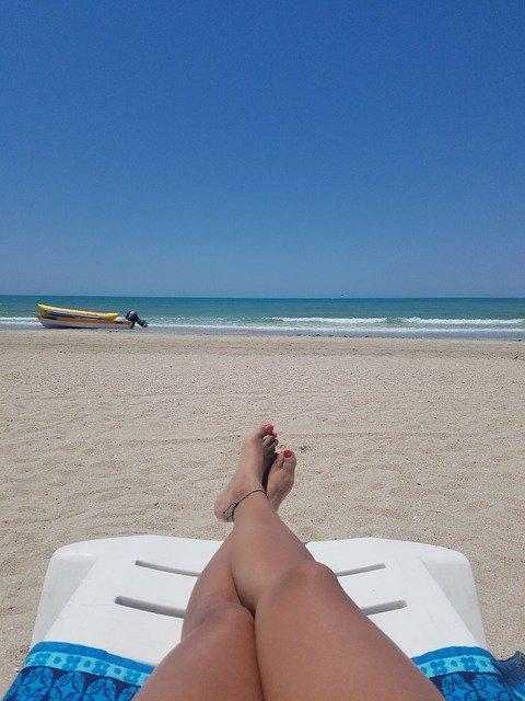legs and beach