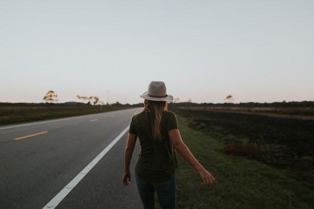 walking on highway