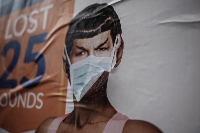 Spock wearing a mask